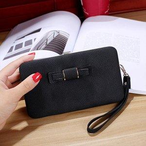 Girl Women PU Leather Clutch Wallet Long Card Holder Purse Box Handbag Bag Fashion Waterproof Wristband Multifunction Handbag