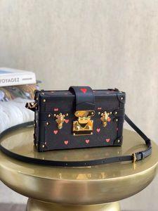 M57454 Spiel auf Petite Malle Bag Top Qualität Frauen Kilometer Beutel Clutch Umhängetaschen Petite Malle Leinwand Handtasche Tasche Hard Box Tasche M40273