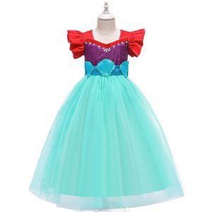 INS Mermaid girls dresses long girls dress fashion kids dresses princess dress party dress formal dresses girls clothes retail B2339