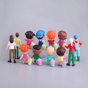 2020 Anime Cocomelon Figura Toy PVC Model Dolls Bambole Cocomelon Giocattoli per bambini Regalo del bambino 12pcs / Set Y1221