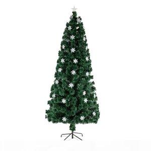 6FT pequeno Fiber Optic luz da árvore de Natal 230 Ramos Natal plug EUA