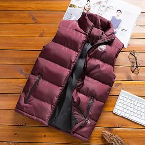 JUNGLE ZONE new men's sleeveless cotton jacket winter warm vest men's casual vest men's warm jacket M-6XL size Y200930
