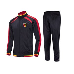 20 21 RC Lens Football Club Top Running tracksuit Jacket Leisure Training Suits Outdoor Sportswear Jogging Wear Adult Tracksuts