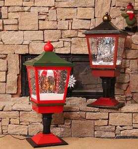 크리스마스는 29.5 * 29.5 * 77cm 소품 실내 조명 쇼핑몰 호텔 페스티벌 데스크 램프 설정을 살고 서부 눈 음악 램프 장식으로 이루어져
