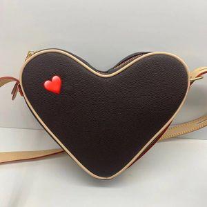 22 centimetri lettera del cuore / borsa delle donne di alta qualità mini sacchetto del sacchetto di modo della borsa della borsa in vera pelle