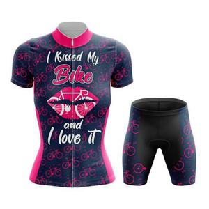 Гонки Sptgrvo Lavschdan 2021 Розовые губы Велоспорт Джерси Женщины Набор Леди Летний Цикл Велосипед Леди Платье Ciclismo Mujer MTB Bike Одежда