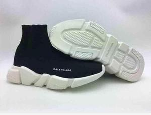 Haute Qualité sport Chaussures Casual Chaussette Mode Femmes New Slip-on élastique Tissu Vitesse Entraîneur Sneakers Hommes balenciaca Chaussures 36-45