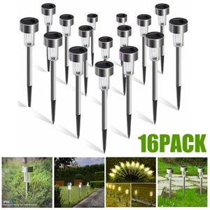 16PCS Mini Solar Garden Lights Outdoor Solar Powered Pathway Lights Outdoor Landscape Spot Lights for Villa Garden Park Balcony C1004