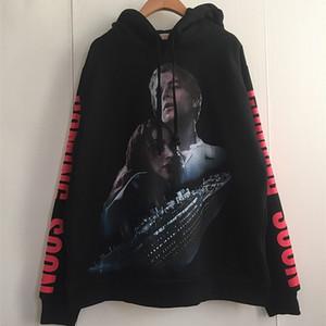 New High VETEMENTS Titanic coming Unisex Hoodie Hoody hooded Sweatershirt velvet Cotton Drake Thicken Fleece S-2XL #AU4 201020