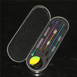 121mm Wax dabbers dry herb Dab tool 5 types metal wax tool dab rig for e nail glass bong silicone smoking pipe