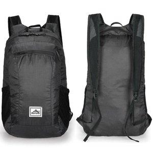 20L Portable Foldable Backpack Waterproof Backpack Folding Bag Shoulder Ultralight Outdoor Travel Bag for Women Men