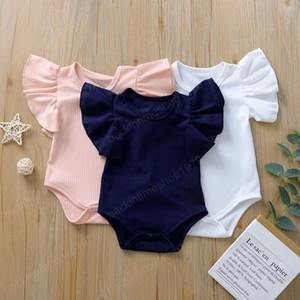 5 Solid Colors Newborn Baby Romper Summer Jumpsuit Infant Girl Princess Cotton Onesies Short Sleeve Bodysuit Clothes