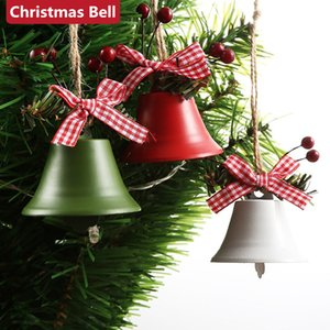 Рождество Jingle кованого железа Большой колокол украшения кулон Рождество Белл Подвеска Рождественские украшения новогоднего праздника детей игрушки 100шт T1I2638