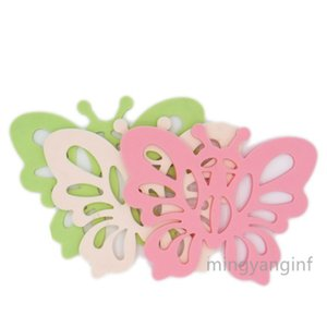 Non-Slip Heat Resistant Pads Insulated Multi-Use Coasters Butterfly Silicione Pads for Home Use,Coffee Cup, Hot Dishes MY-inf455