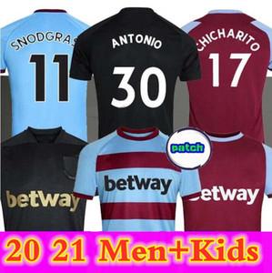MEN Kids 20 21 West Home soccer jerseys 2020 2021 United black third HAM LANZINI ANTONIO F.ANDERSON 125th Anniversary football shirts AWAY