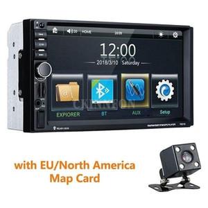 Автомобиль Аудио 5 шт. / Лот Универсальный 7-дюймовый 2 DIN MP4 / MP5 Радио GPS навигация 2din Stereo Auto Bluetooth 1080P FM 7021G