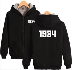 fashion GOSHA 1984 Digital Printed Zipper Hoodies Men's Women's Cotton Jacket