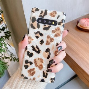 Leopard Soft TPU Case For Iphone 12 11 Pro XR XS 8 7 Samsung S20 Note10 9 8 S10 Plus S9 Animal Grain Sequin Shell Luxury Fashion Phone Cover