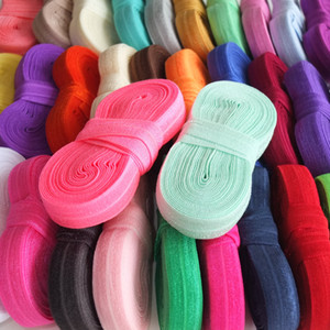 yards bundle Fold Over Elastic   inch FOE Elastic ribbon DIY Elastic Sewing Material Headband Hair ties Hair band Hair bow