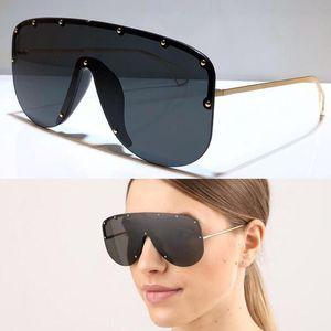 موضة جديدة 0667S النظارات الشمسية مرتبطة عدسة كبيرة الحجم نصف إطار مع المسامير الصغيرة 0667 قناع النظارات الشمسية نموذج شعبية أعلى جودة مع القضية