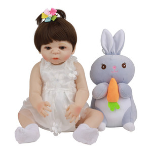 48CM Reborn Toy Baby Reborn Full Body Silicone Bath Toddler Dolls Realistic Lifelike Soft Gift for New Year