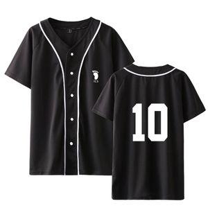 Hop Karasuno Baseball Oversized Shirt T Short Sleeve School Uniform Sportswear Haikyuu High Men women T Shirt Hip Anime Print Craew