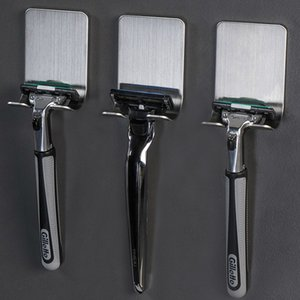 Men's Shaving Shaver Shelf Bathroom Viscose Razor Hook Wall Adhesive Storage Rack Hanger 304 Stainless Steel Razor Holder