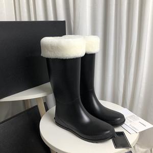 Vendita calda Lace-up Lady's Mezzo Stivali con lana High Chunky Heel Genuine Pelle Mucca Cuoio-Alto Stivali Diamond Lattice Heel Boots Moda Stivali