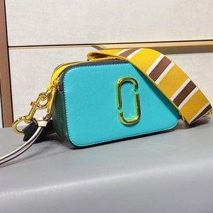 Moda de color bolso de cámara de lujo bolso de hombro mujeres diseñadores bolso bolso billetera de lona de rayas correa bolsas de hombro bolsa de bandolera