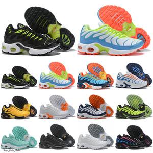 TN 2019 Crianças Running Shoes tn enfant respirável macio Esportes Chaussures Rapazes Meninas Tns Além disso Sneakers Juventude requin Trainers Tamanho 28-35