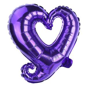 18 polegadas gancho forma coração alumínio balões de alumínio festa de casamento decoração dias dia dos namorados aniversário bebê chuveiro ar balloons ccd3936