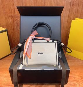 Mode Mini Einkaufstasche Handtasche 21 Neue Trend Buchstaben mit Schals Damen Hohe Qualität Temperament Straddle Umhängetasche WF212011