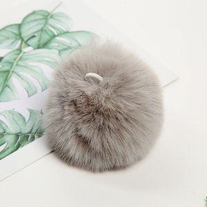Fashion Plush Ball Keychain Imitation Rabbit Fur Soft Plush Ball Key Chain Pendant Plush Luggage Key Ring Creative Gift PPF4312