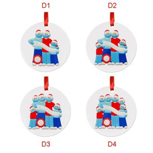 Christmas decorations Christmas tree hanging piece lovely mask Snowman presents Birthday Party Christmas Tree Pendant Accessories GWD2361