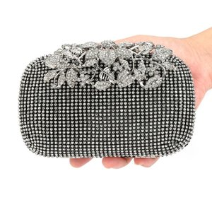 Luxury Rhinestone Evening Fashion Bag Women Clutch Crystal Clutches Clutch Flower Hangbag Bag For Rhinestone Bags Xlbti Female Btgwv