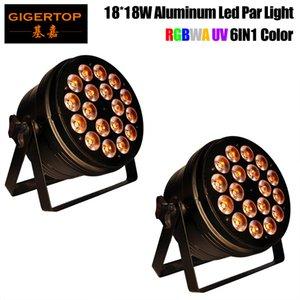 Хэллоуин проектор алюминиевый сплав светодиодный пар 18x18W RGBWWA + UV 6in1 огни DMX512 диско Рождественские огни сцены DJ для танцевального зала