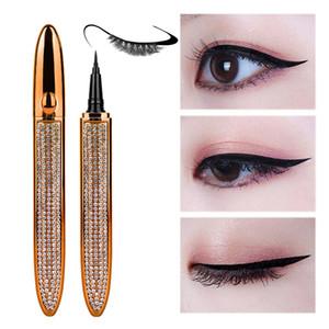 Waterproof Self Adhesive Eyeliner for False Eyelashes No Need Glue to Wear Lashes Liquid Eyeliner Strong Self-Adhesive Eyelash Eyeliners