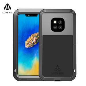 ЛЮБОВЬ MEI Pro Shock Грязь Доказательства водостойкого металл Доспех крышка телефон чехол для Huawei Mate 20 Lite
