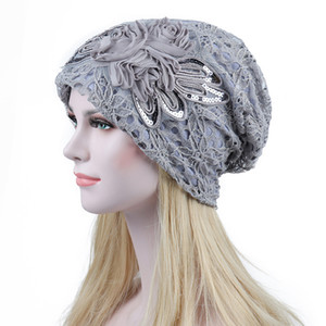 Hooded cap ladies fall winter lace hat Korean style trend hat double-layer windproof air-conditioning cap wholesale