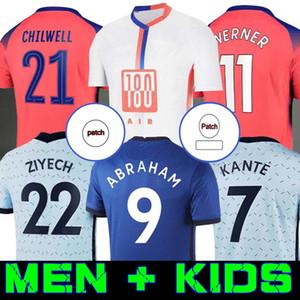 20 21 футбольные трикотажные изделия Авраам Вернер Хартц Чилвелл Ziyech Zouma Футбольная рубашка Pulisic CamiSeta Kante Mount 2020 2021 Men + Kids Kit