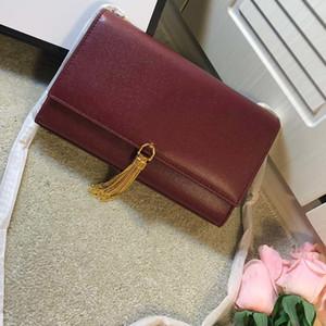 Mode femme Sacs d'épaule Sac en cuir Kate Tassel gaufrée originaux Calfskin Designer sac à bandoulière de luxe Sacs à main Sac à main 2 couleurs