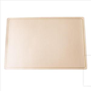 Tableware esteira de alimentos ocidentais esteira de couro de ouro placemat resistência Óleo à prova d 'água tabela decoração PU materiais ferramenta ferramenta mar gwc5241
