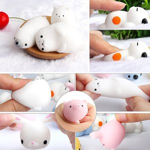 Squishy Toy Cute Animal Compression Ball Squeeze Mochi Rising Toy Soft Sticky Stress Release Toy Fun Gift