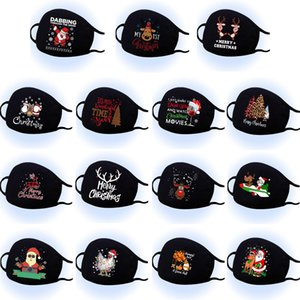 christmas face mask Christmas printed black cotton mask men and women with sublimation personalized printing washable mask