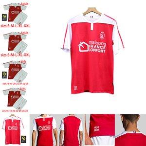 20 21 Stade maillot de futebol Reims jerseys DISASI CAFARO KONAN DIA FOKET CHAVALERIN Zeneli 2020 2021 camisas de futebol Homens crianças maillot de pé