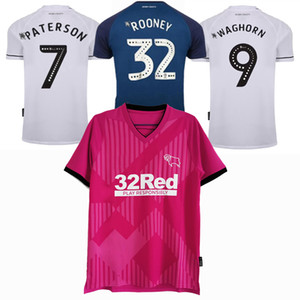 2020 2021 Derby County Soccer Jerseys Rooney Dowell Baterson Waghorn 20 21 كرة القدم الرجال والأطفال قميص