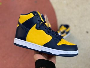 NEW 2020 Dunk High MICHIGAN SB Walking Skateboard Shoes For Mens Trainers Designer Brand Outdoor Sneakers Size EUR36-45