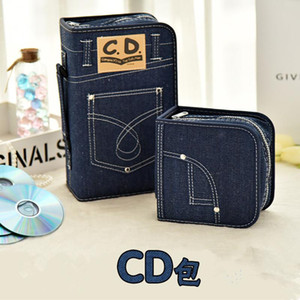 60 128pcs Disco Movie Bags Durable Car Protective Capacity Case Cover Portable Denim CD Storage DVD Music Holder Dalbr
