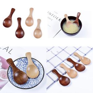 Bois Mini bébé Cuiller Lait en poudre café sel épices Assaisonnement Scoops Accessoires de cuisine Manche court ronde Louche 1 99pt G2