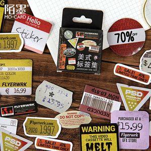 45pcs Box Retro Label Decorative Stickers Album Diary Calendar Scrapbooking Diy Decor Stick Label Stationery Sticker bbyEUY packing2010